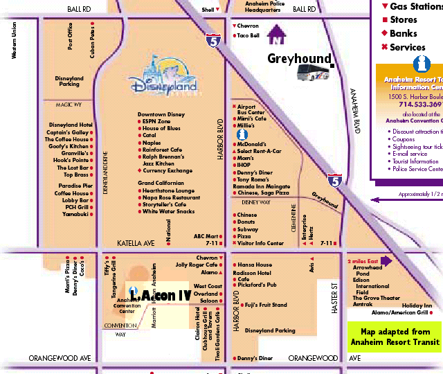 Anaheim Resort Map
